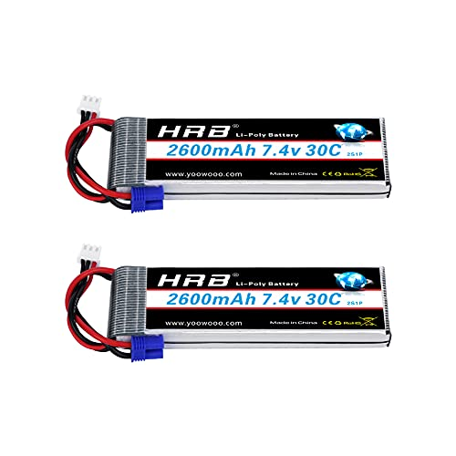 HRB 7.4V 2600mAh 30C batería Lipo EC2 para para Hubsan H501S Quadcopter