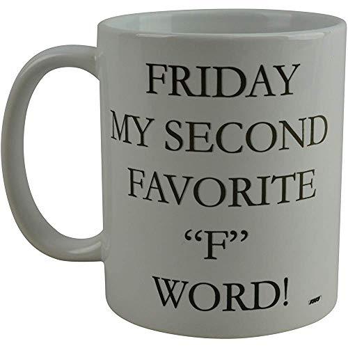 Koffiehaverl vrijdag mijn tweede lievelingswoord-nieuwigheidsschaal groot cadeau-idee voor kantoor-Chef Employer White Elephant