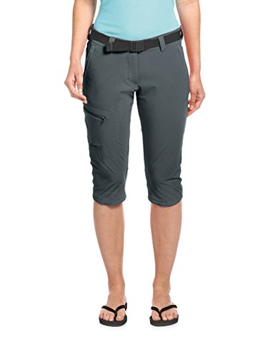 Maier Sports Damen Inara slim 3/4 Bermuda Shorts, graphite, 38