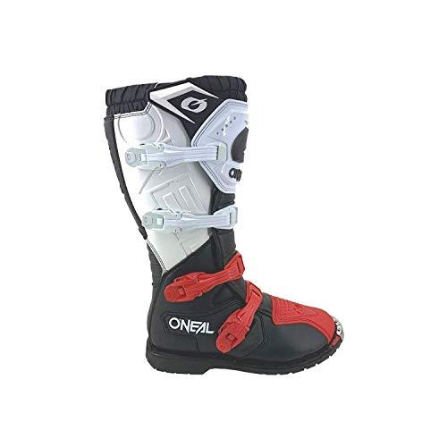 O'NEAL   Motocross-Stiefel   Enduro Motorrad   Komfort durch Air-Mesh-Innenleben, vier Verschlussschnallen, hochwertiges Synthetik-Material   Boots Rider Pro   Erwachsene   Schwarz Weiß Rot   Größe 43