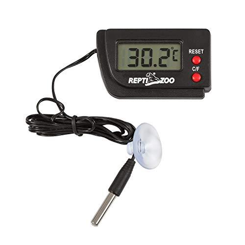 温度計・湿度計 REPTI ZOO デジタル温湿度計 爬虫類用 高感度 ペット飼育 魚飼育用 爬虫類・両生類・水族箱・テラリウム用 (温度計)