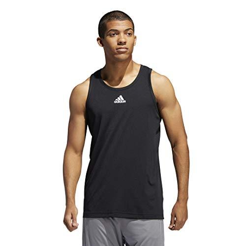 adidas Camiseta de Tirantes 3g para Hombre, Color Negro, Talla S