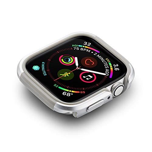 LRJBFC Nueva Caja de Aluminio TPU + para la Serie de Relojes de Apple SE 6 5 4 Cubierta DE Marco DE Marco PROTECTIVO DE Metal Fuerte Chare DE PARPERA para IWATT 40mm 44mm