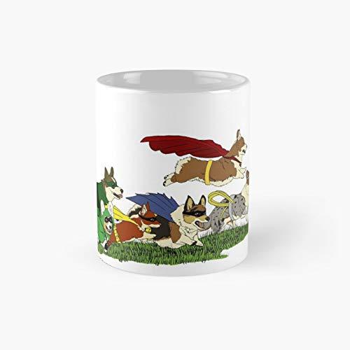 Taza clsica de Justice Corgis | El mejor regalo divertidas tazas de caf de 325 ml