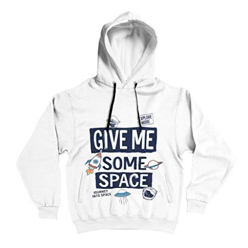 XJJ88 Heren Hoodie Studenten Geef me wat ruimte slogan grafische Gedessineerd Stijlvol - Trekkoord Comfort Training Jacket