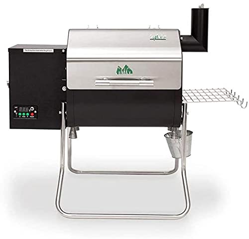 Green Mountain Davy Crockett Sense Mate Electric Wi-Fi Control Foldable Portable Wood Pellet Tailgating Grill with Meat Probe, Black (Improved/Green)