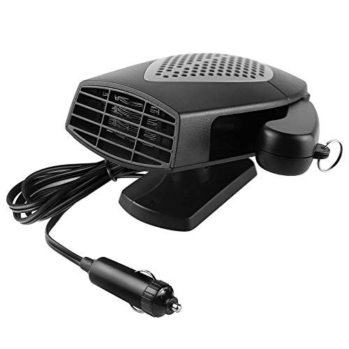 Portable Car Heater, 12V 150W 2 in 1 Fast Heating Fan Defroster Demister Car Amplifier Cooling Fans Automotive Replacement Heater for Car SUV Truck Rv Trailer