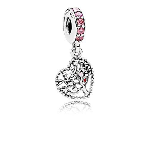 Stone Beads Herz Charm-Anhänger