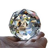 qianyue Cristal de Cuarzo Cristal Facetado Bola Natural Piedras y Minerales Feng Shui Cristales Bolas Miniatura Estatuilla Kristal Products (60mm)