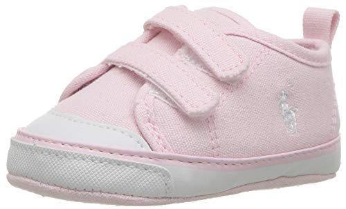 Momo Baby Girls First Walker Toddler Leah Sneaker Shoes - 6 Black/Pink