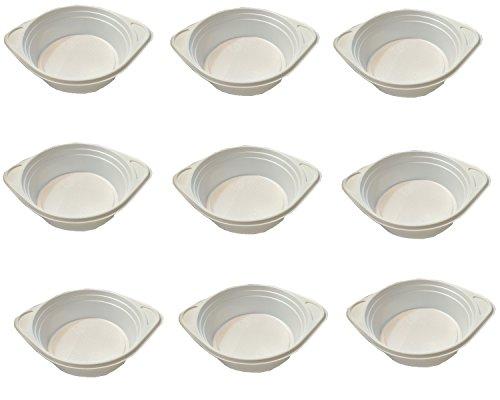 Trendsky® 500 Stück weiß Suppenterrinen Suppenteller 500ml Einweggeschirr weiße 0,5L Teller aus Kunststoff
