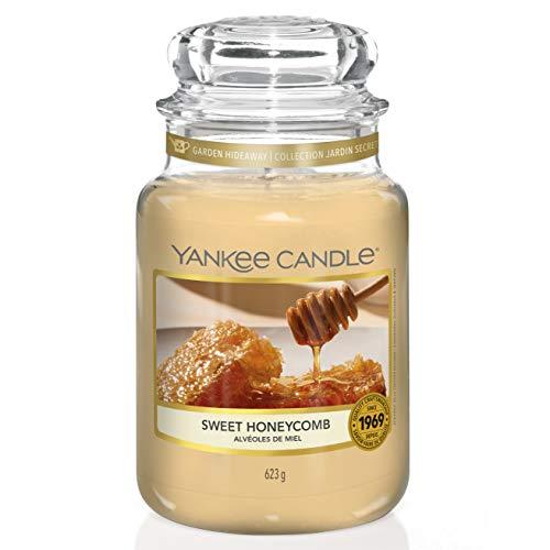 Yankee Candle - Vela aromática con aroma de panal de abeja, hasta 150 horas de combustión, colección Garden Hideaway