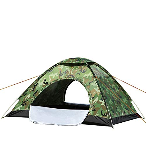 Instant automatic pop up tent,Double door,3-4Person Lightweight,Waterproof Windproof, UV Protection,Outdoor,traveling,camping-Includes Carry Travel Bag&Tent Pegs and Windproof rope(Camouflage color)