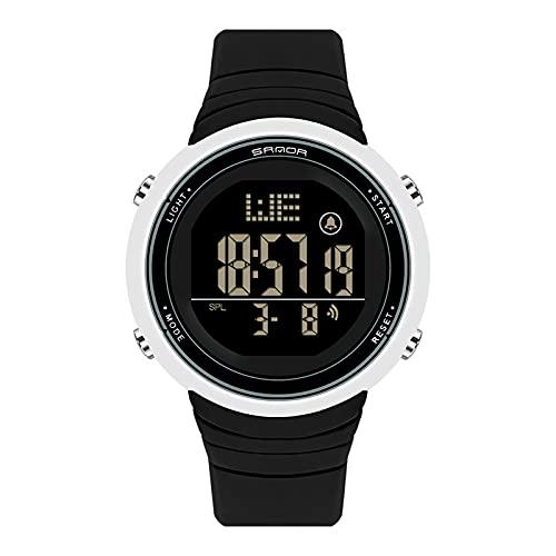 LJSF Relojes de Simulación Digital, Moda Simple Student Reloj Electrónico a Prueba de Agua LED Reloj de Pulsera de Pantalla Grandecon Alarma Pantalla Luminosa, para Damas,Set1