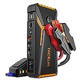 TACKLIFE T8 800A Peak 18000mAh Avviatore Batteria Auto con Display LCD (Fino a 7,0 Litri di Gas, Motore Diesel da 5,5 Litri), ripetitore per Batteria da 12 V con Cavo Smart Jumper (Giallo)