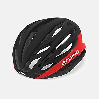 Giro Syntax MIPS Adult Road Cycling Helmet - Medium (55-59 cm), Matte Black/Bright Red (2020)