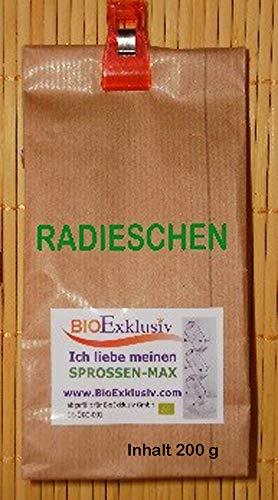 Keimsprossen RADIESCHEN Bio, 2 Pkg. à 200 g, Keimsaaten für Keimsprossen, Premium Saatgut