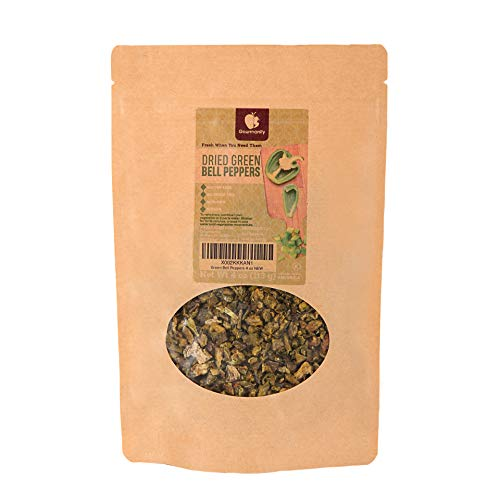 Gourmanity 4 oz Dried Green Bell Peppers, Dehydrated Green Pepper, Green Peppers Dried, Dried Green Bell Pepper, Dried Bell Pepper Green, Dried Green Bell Pepper, Dried Bell Peppers, Green Pepper Bell
