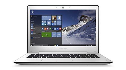 Lenovo ideapad 500s 33,78cm (13,3 Zoll Full HD Anti-Glare) Slim Laptop (Intel Core i5-6200U, 2,8GHz, 4GB RAM, 128GB SSD, Intel HD Grafik 520, Tastatur-Hintergrundbeleuchtung, Windows 10 Home) weiß