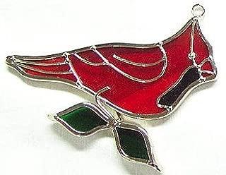 Mini Cardinal Stained Glass Suncatcher