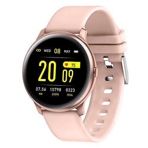 Reloj inteligente deportivo para hombre y mujer, pantalla de 1,3 pulgadas, pulsera con frecuencia cardíaca, presión arterial, detección de sueño, podómetro y clima, compatible con Android e iOS A