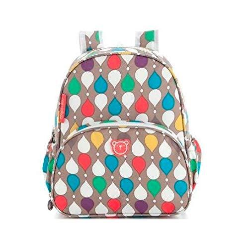 Pirulos 47430900 - Mochila, diseño drops, 26 x 30 x 12 cm, color lino