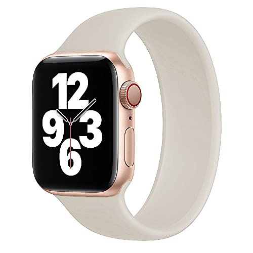 Hspcam Solo Loop para Apple Watch Band 40 mm 44 mm para iWatch Band 38 mm 42 mm Correa elástica de silicona reloj serie 6 5/4/3/SE (38 mm o 40 mm), antiguo)
