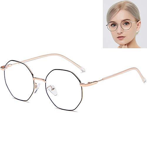 HOUSON blaulichtfilter Brille Damen Anti Blaulicht Brille Polygon Computer Brille blockierung uv Brillen für Damen Herren