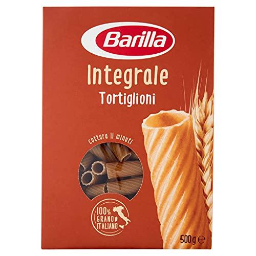 Barilla Pasta Tortiglioni Integrali, Pasta Corta di Semola Integrale di Grano Duro, Integrale, 500 g