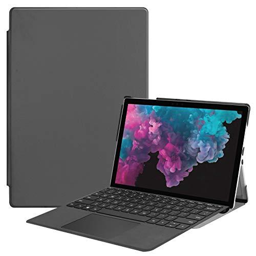 Lobwerk - Custodia sottile per tablet Microsoft Surface Pro 4 5 6 7 con 12,3 pollici, con funzione leggio e funzione sleep/wake, colore: Grigio