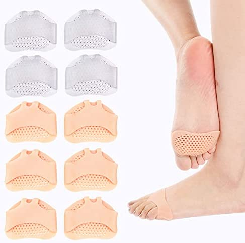 5 Pairs Metatarsal Pads Ball of Cushions New product!! Foot Breathab Portland Mall Reusable