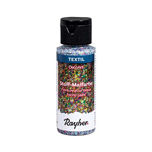 Rayher Colore per Stoffa Extreme Glitter, Confetti, 59ml