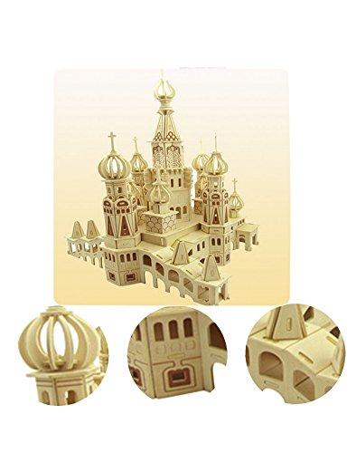 Die St. Petersburg Dreidimensionale Gebäude Des Manuelle Montage Holzmodell