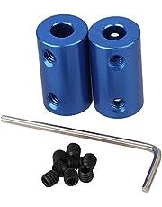 Vogueing Tool Stijve koppeling aluminium askoppeling met sleutel en M4 schroef voor DIY model, 5 stks koppelingen schacht