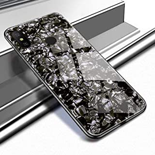 SumoTik Shell Glossy Soft Frame Hard Back Tempered Glass Protective Case for Redmi Note 6 Pro - Xiaomi Cases Covers Xiaomi Note 6 Pro Cases - (Black)