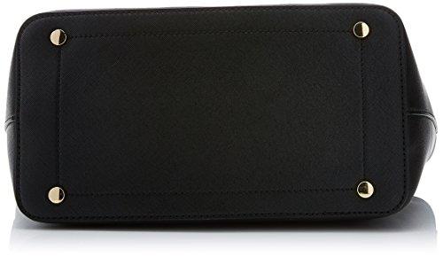 Trussardi Jeans Levanto, Borsa a spalla Donna, Nero, 41x26x16 cm (W x H x L)