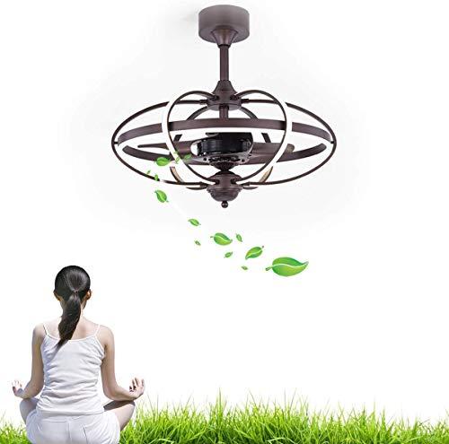 WSVULLD Lámpara De Ventilador De Techo Interior, Motor Silencioso, Función De Temporización, Ahorro De Energía, Lámpara LED De Ventilador Silencioso para Dormitorio, Sala De Estar, Cocina