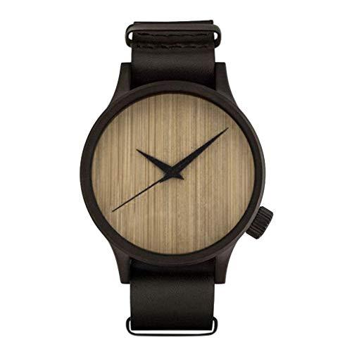 KanLin Reloj Madera bambu para