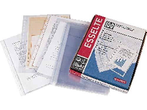 ESSELTE 46114 - Fundas portadocumentos COPYSAFE PP Piel de naranja con refuerzo (caja 100 ud.) Folio. 16 taladros: Amazon.es: Oficina y papelería