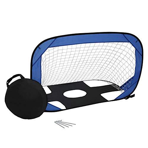 Qualityselection Fußball Pop Up Tor klein, mit Tragetasche für Kinder. Minitor mit Torwand für Strand und Garten