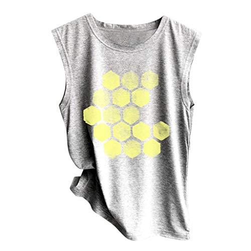 Luckycat Camisetasin Manga de Mujer,Mujeres Sexy Verano Deporte Sujetadors Tops de Cortos algodón Camisetas de Tirantes Crop Cami Tops Camisas Blusas