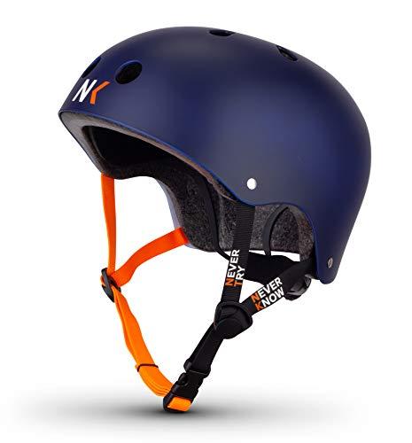 NTNK N11 Blue · BMX Fahrrad-Helm Skater E-Roller Inliner Scooter · Kinder & Erwachsene · L (57-61cm)