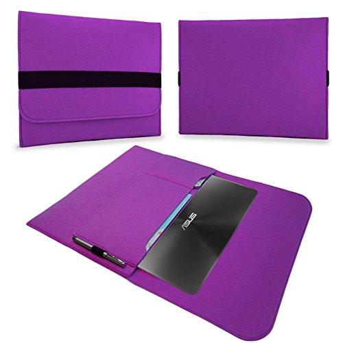 UC-Express Tasche Notebook 13,3 Zoll Hülle Schutzhülle Ultrabook Filz Case Cover Sleeve Bag, Farben:Lila, Notebook:Blaupunkt Endeavour 1013