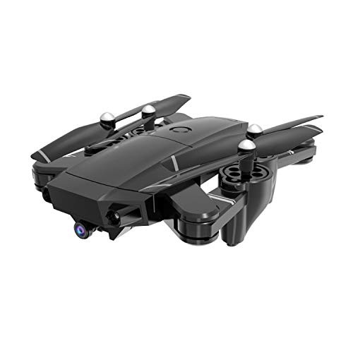 TeasyDay H13 RC Drohne Quadrocopter, 5MP 1080P Weitwinkel WiFi FPV HD Kamera, optischer Fluss Wunderschöne Nachtlichter, kopfloser Höhenhaltemodus Schwerkraftmessung, Spielzeug für draußen (Black)