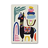 Camel Poster Print Alpaca Sheep Home Inspiring Wall Art Canvas Painting Mid-Century Wall Art Nursery...