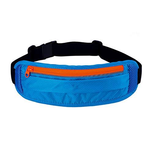 JTKDL Bolsa de Cintura de Nylon multifunción para al Aire Libre, Viajar, Acampar, Compras (Color : Blue)