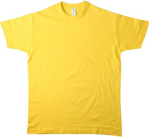 Sol'S Regent - Tee-Shirt Homme Manches Courtes à col Rond - 100% Coton Semi-peigné - Marine - L