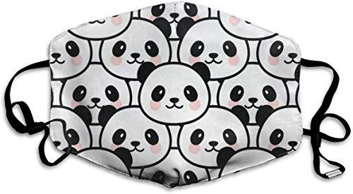 Bikofhd Staubdicht, waschbar, wiederverwendbar, sü?er Panda-Mundschutz, schützt vor Keimen, warm, Winddicht