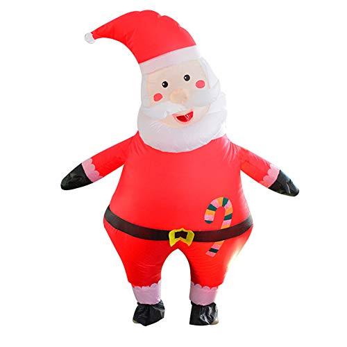 LINAG Aufblasbares Kostüm für Erwachsene Cosplay Party Geschenk, Aufblasbare Netter Weihnachtsmann Kleidung für Karneval Weihnachten Kostüm,A,OneSize