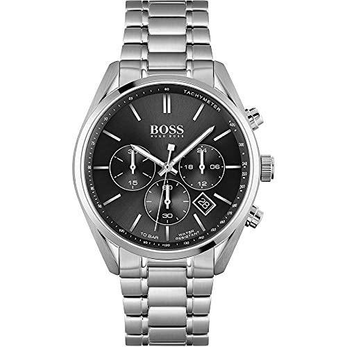 Hugo BOSS Mens Chronograph Quartz Uhr mit Edelstahl Armband 1513871
